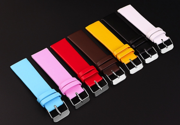 PU Leather Strap Cheap Colorful 16mm 20mm Matt Style Custom Made