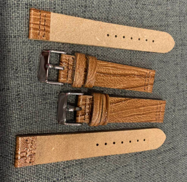 Cork Natural Wood Leather Strap Custom Made For Style And Sizes