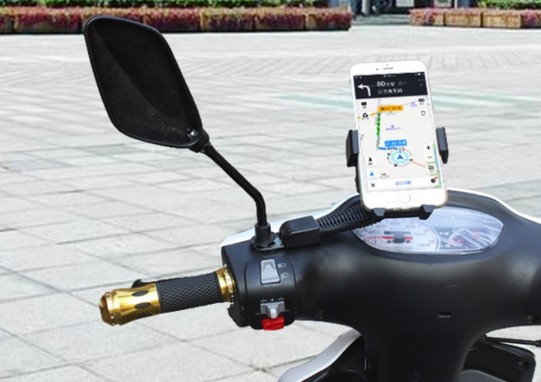 Holder To Scooter Handle Smartphone Mount For Motorcycle 3.5-6 Inch