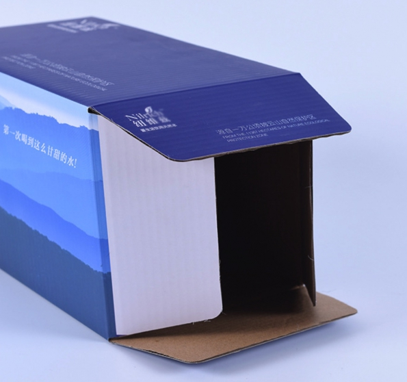 Carton Box Mineral Water Custom Made Four Color Outside Printing