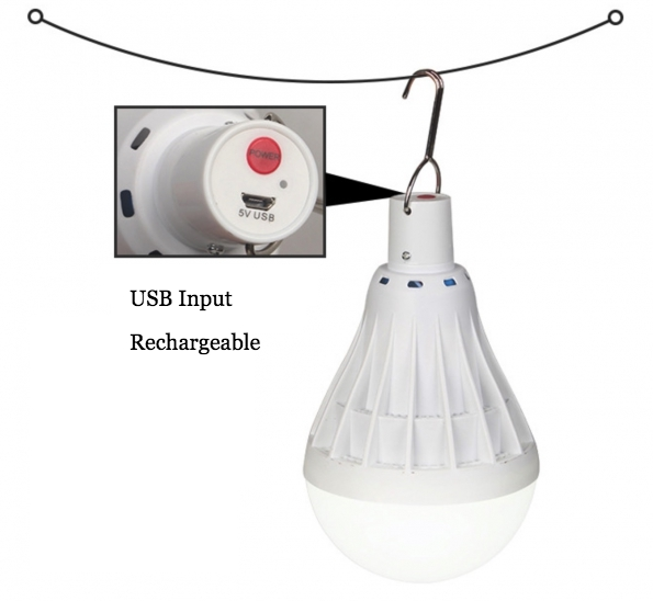 Emergency Rechargeable Led Light Bulb Outdoor Camping Bulb