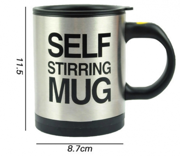 Automatic Mixing Coffee Cup Milk Tea Stainless Steel Gift Cup