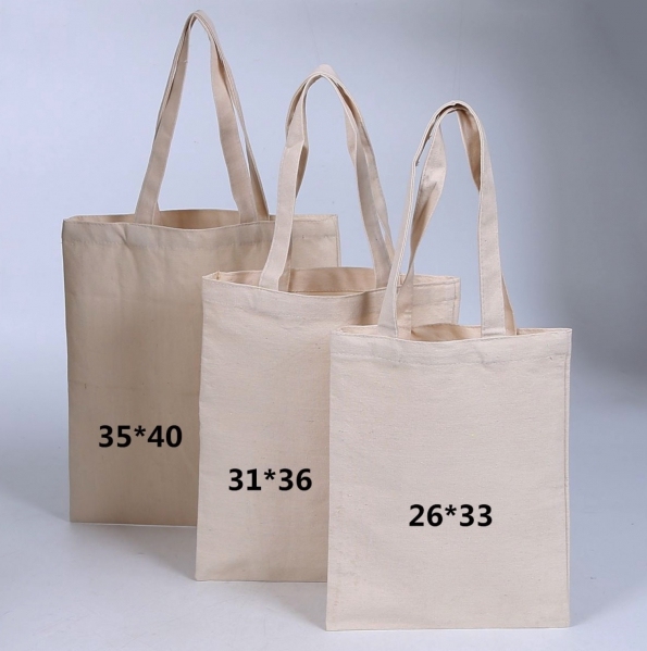 Canvas Cotton Shopping Bags Custom Printed Logo