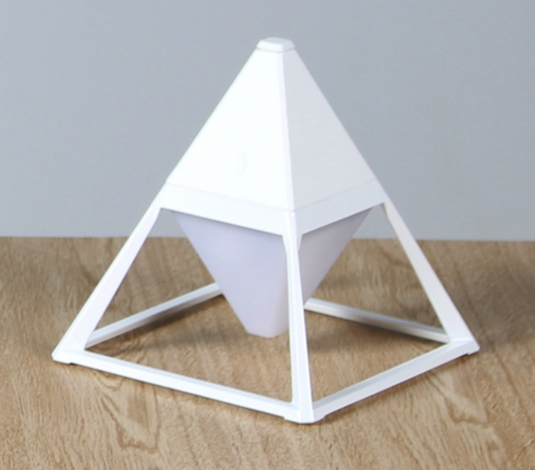 LED USB Pyramid Lamp Touch Adjustable Bedroom Night Light
