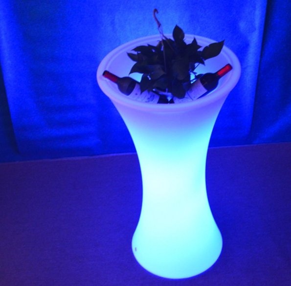 Led Flower Vase Small Waist Design Colorful 16-colors With Remote Control