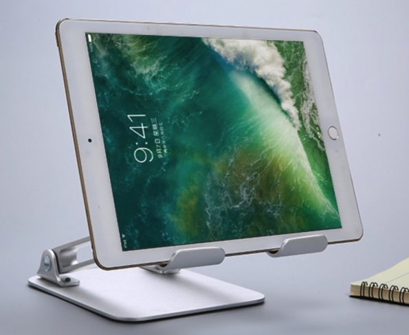 Folding Aluminum Tablet Stand Height And View Angle Both Adjustable
