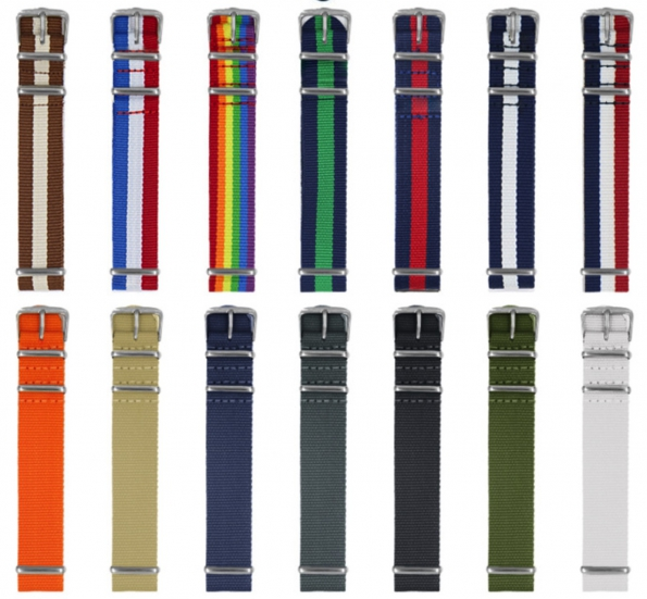 Nylon Strap Replacement Waterproof Nylon Mix-color Band For Nato Watch