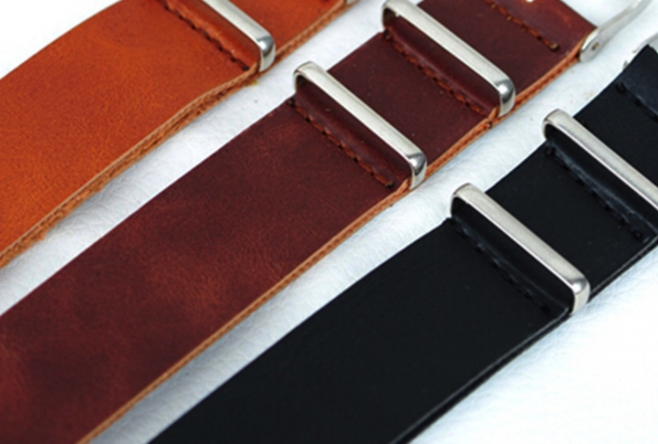 Leather Smooth Surface Watch Strap For Nato Watch