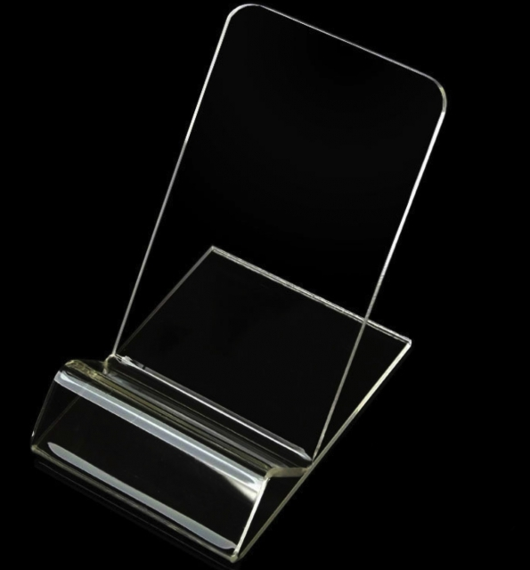Acrylic Mobile Phone Holder Transparent Cellphone Table Holder OEM Customization