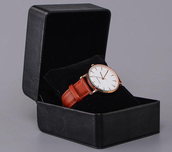 PU Leather Watch Packaging Box More Color Options