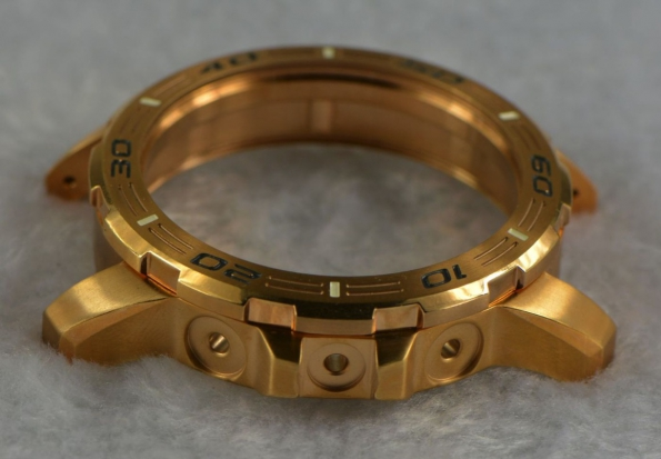 Golden Color Watch Stainless Steel Case OEM Watch Case