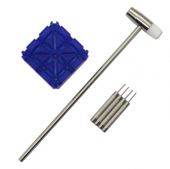 Watch Link Remover Kit Stand Mini Hammer Stainless Steel Remover