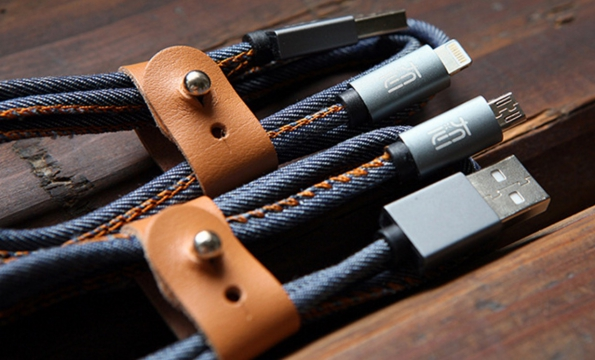 Jeans Cable Sync Charging USB Cable Wrapped With Jeans