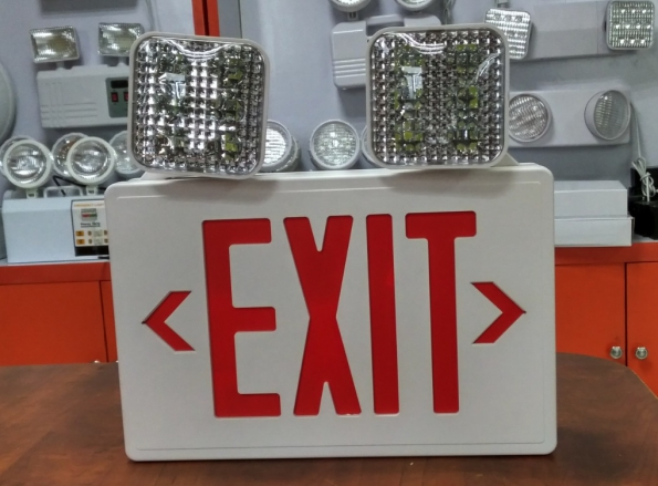 LED EXIT Sign With Double Head LED Emergency Light With Verified