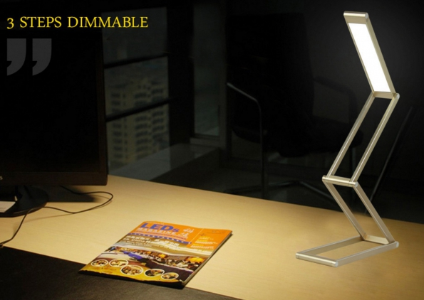 Ultra Thin Foldable Portable LED Rechargeable Lamp Perfect Gift Lamp Free Folding Design Carrying Very Convenient