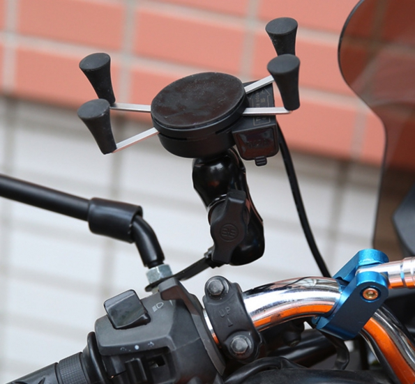 Mobile Phone Holder For Motorcycle With USB Charger 2A Waterproof