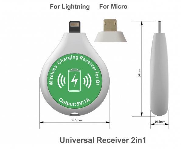 Universal Wireless Charging Receiver Mini Portable Wireless Charger Coffee Shop Bar Hotel