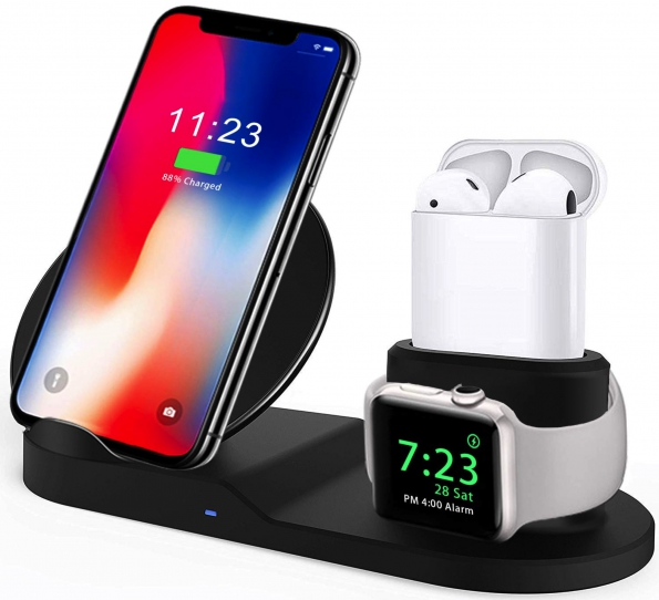 3-in-1 Charging Dock For Earphone Watch And Smartphone 7.5W