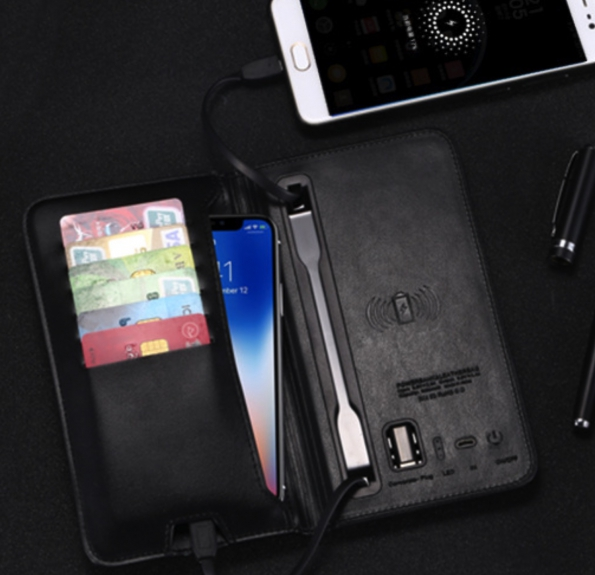 Wallet Power Bank 5000mAh With Wireless Charger All In One
