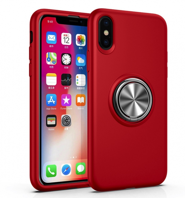 8 Plus Case Stand Cover With Magnetic Metal Car Ring