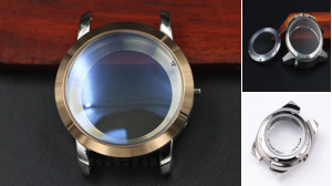 Mechanical Watch Case with Glass Back