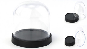Plastic Display Dome With Plastic Base