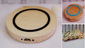 Wooden Case Wireless Charger Pad
