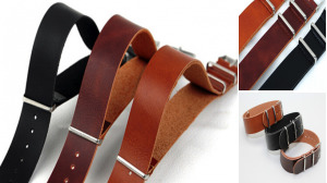 Smooth Leather Strap For Nato Watch