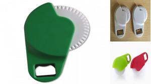 Plastic Pizza Cutter With Opener