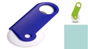 Mini Plastic Pizza Cutter With Opener