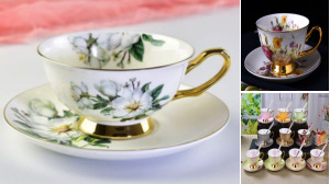 Tea Cup And Saucer Gold Base
