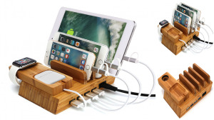 All-in-one Wooden Charging Station